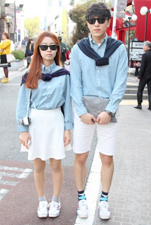 韓國情侶時尚穿搭