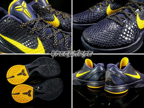 Nike Zoom Kobe VI Imperial Purple/Del Sol 深紫/黃勾 潑墨點點鞋帶