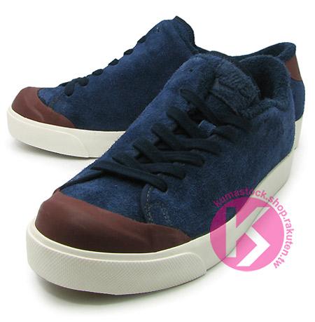 藤原浩愛用款NIKE ALL COURT TWIST鞋帶側綁深藍麂皮鞋