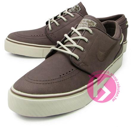NIKE ZOOM STEFAN JANOSKI SB PREMIUM 帆船鞋鞋型咖啡色滑板鞋