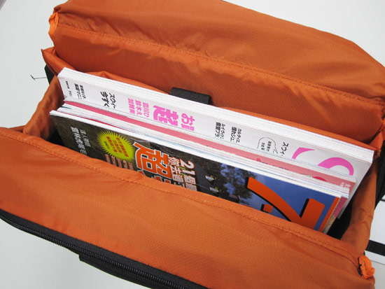 用來當成書包放書籍或雜誌也是綽綽有餘