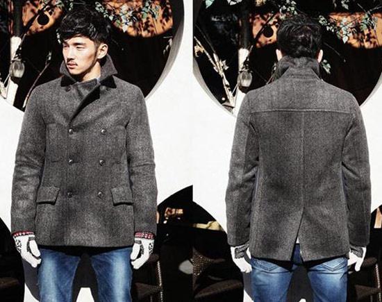 雙排扣羊毛大衣