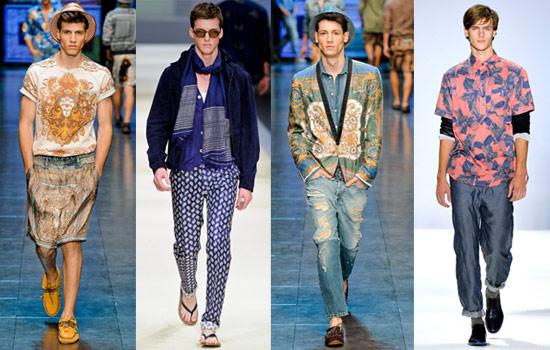 抽象的幾何圖案以復古華麗的風格重新呈現在服裝上