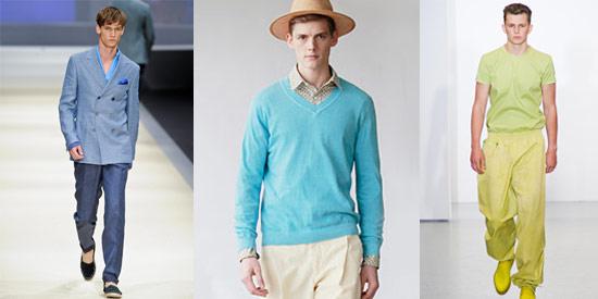 同色系但不同彩度的應用穿著,是2012春夏搭配的重要技巧。