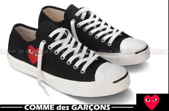Converse JACK PURCELL x COMME des GARCONS PLAY 川久保玲愛心低筒開口笑