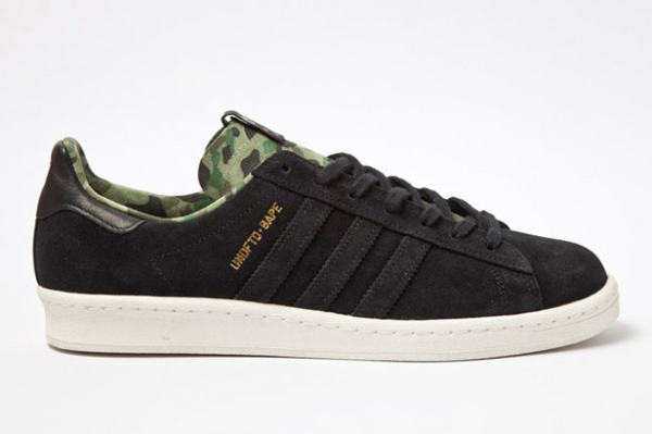 Bape x Undefeated x adidas Originals Consortium Campus 黑鞋身