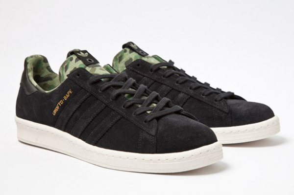 Bape x Undefeated x adidas Originals Consortium Campus 迷彩內襯與鞋舌