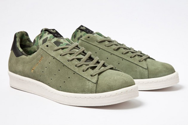 Bape x Undefeated x adidas Originals Consortium Campus 軍綠色