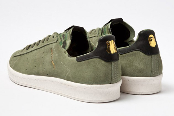 Bape x Undefeated x adidas Originals Consortium Campus 鞋跟有聯名LOGO