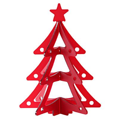 【MUJI無印良品】壓克力聖誕樹小/紅色
