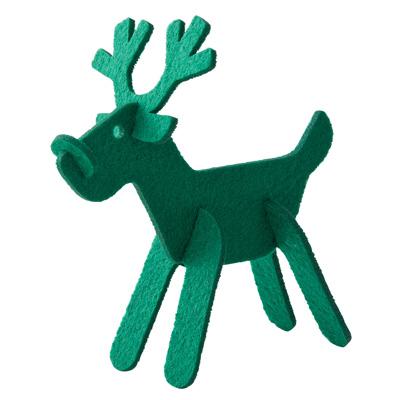 【MUJI無印良品】毛氈麋鹿/綠