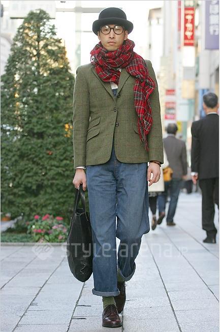 復古西裝外套,復古風穿搭推薦,日本街頭復古風,格紋西裝外套,橄欖色西裝外套