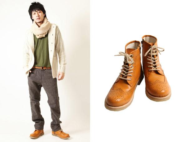 ZIP皮革雕花工作靴,雕花工作靴,綁帶工作靴,真皮工作靴,高筒真皮靴