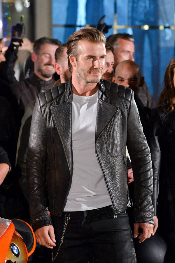 ▲穿上皮衣的貝克漢,從陽光運動型男轉變陽剛味十足的酷MAN。(圖/擷自David Beckham臉書粉絲團)