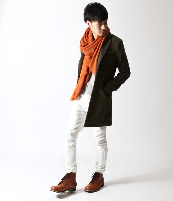 長大衣 風衣外套 西裝領 混羊毛 ZIP日本男裝