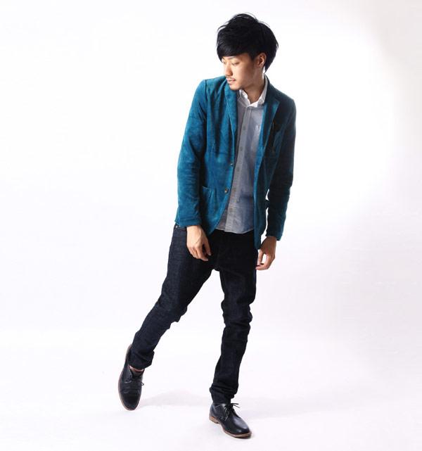 西裝外套 雙釦 絨布外套 ZIP日本男裝