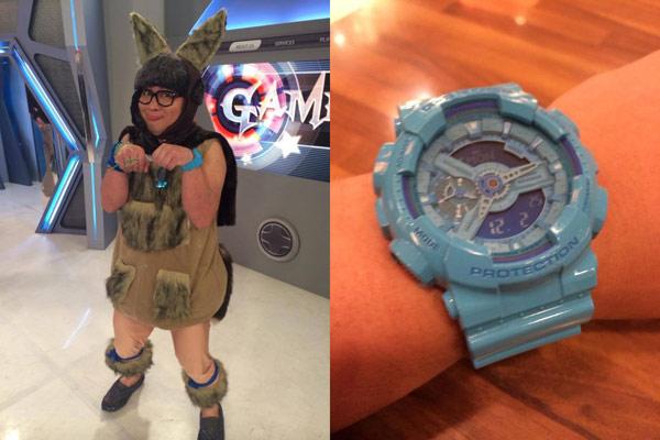 ▲納豆配戴的CASIO G-SHOCK GA-110B-2與上述的繽紛色彩手錶,隸屬同系列,是G-SHOCK於30周年時推出超人氣的GA-110炫彩系列復刻版。(圖/截取納豆臉書粉絲團)