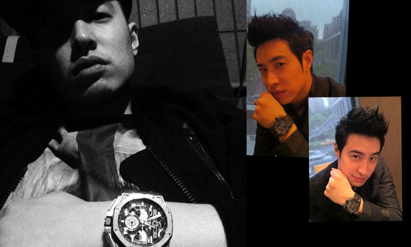 ▲身為AP粉絲的潘瑋柏,不時可見到他配戴愛彼皇家橡樹離岸型(Royal Oak Offshore)系列錶,該系列的八角形經典錶圈造型,辨識度相當高,帶出濃厚陽剛運動時尚型男味。(合成圖/截自潘瑋柏臉書粉絲團)