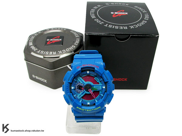 ASIO G-SHOCK GA-110HC-2ADR 藍桃紅