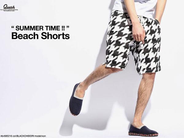 潮流短褲,對比色短褲,西裝短褲,亮色短褲,千鳥紋短褲