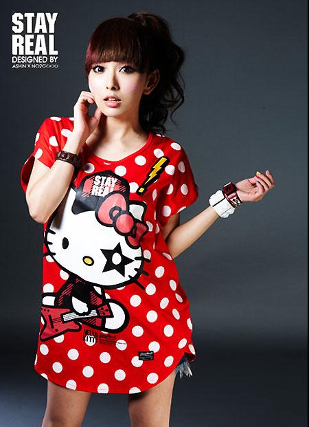 HELLO KITTY × STAYREAL Dot Dot Kitty 點點凱蒂(紅、白、黑三色)