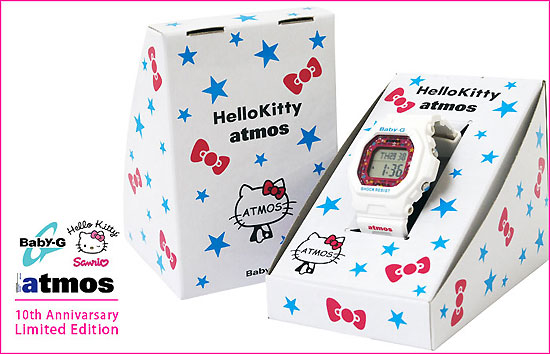 SANRIO HELLO KITTY × atmos × CASIO BABY-G BG-5600 10周年紀念女錶