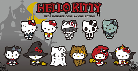 2011 HELLO KITTY MEGA MONSTER COSPLAY COLLECTION