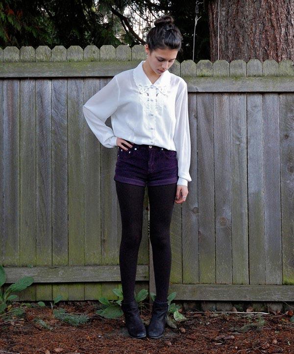 深紫色的褲子也是秋冬強打的顏色
