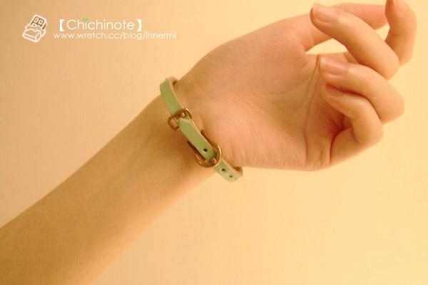 俏皮色調西部皮帶率性手環