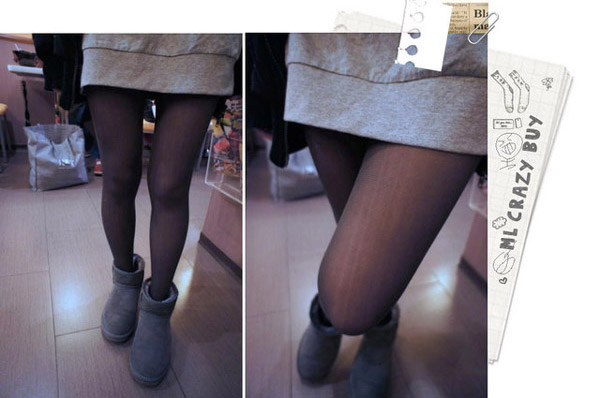灰色穿起來好像是淡淡的黑色透膚襪一樣~