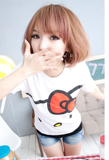 T恤,卡通T恤,hello kitty,女裝,穿搭,艾咪e鋪