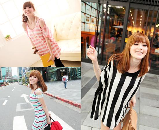 東京著衣,流行女裝,挖肩,長版,日系