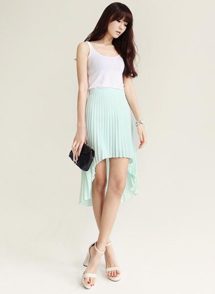 雪紡紗,長裙,紗裙,前短後長,裙子