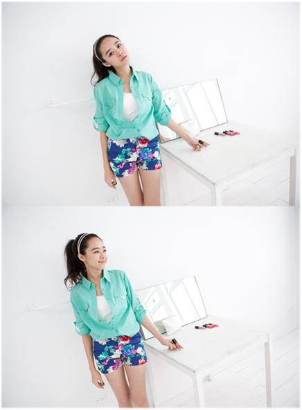 Joyce shop,碎花,印花,高腰褲,褲裙