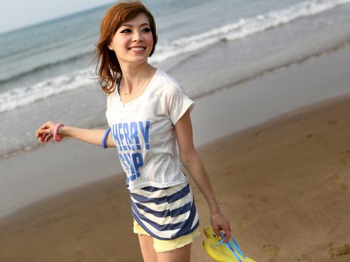 日系,短版,背心,罩衫,兩件式