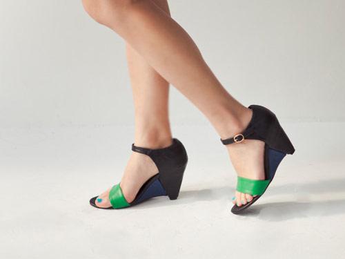 日系,楔型,涼鞋,高跟鞋,vivi