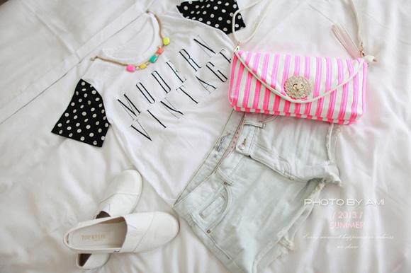 樂天Rainbow shop,夏天穿搭,夏季新品,螢光色包包,海洋風,條紋包包