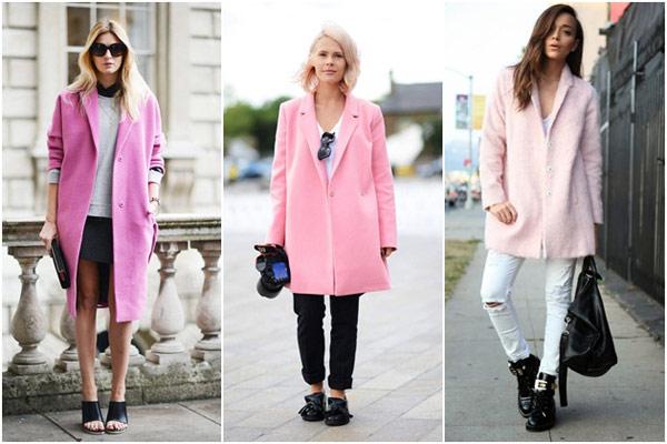 2013秋冬,粉紅色,粉紅色大衣,秋冬時裝週,粉紅色毛衣