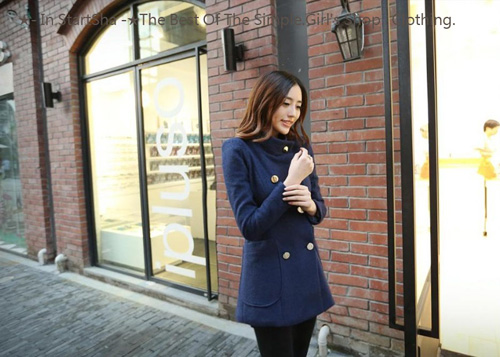★StartSha★氣質修身顯瘦中長款毛呢外套