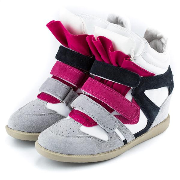 【Michelle Park】韓妞街頭直擊 微拼色個性內增高運動鞋