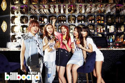 ▲南韓女子團體4Minute丹寧風。(圖/擷自4Minute南韓官方粉絲團)