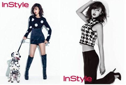 ▲Rainbow高佑麗替明星和時尚雜誌「instyle」拍攝性感的時尚畫報中,高腰的長短褲裝讓她展現出濃濃的性感美,盡顯成熟魅力。(圖/取自STARN)