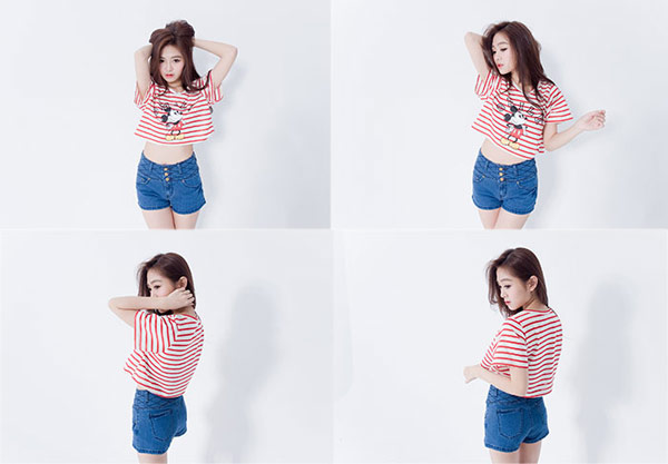 ▲IMAGINE GIRL 短T‧活潑可愛米奇橫紋短版T恤