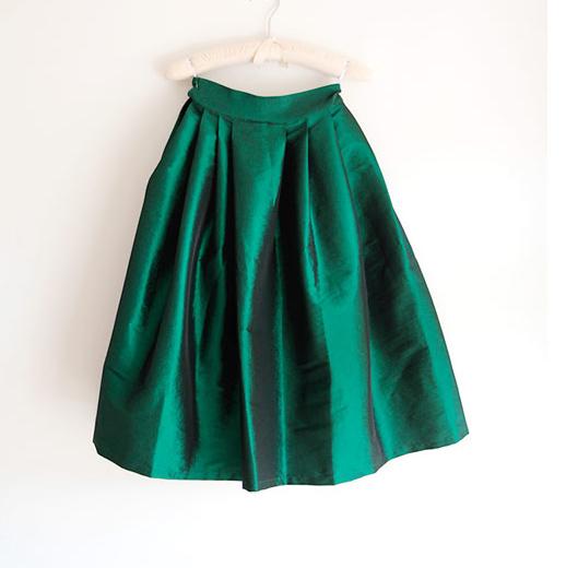 訂製法式優雅緞面澎澎裙 質感 OL 下班必備