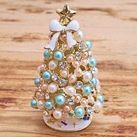 雪花紛飛夢幻聖誕樹珠寶盒