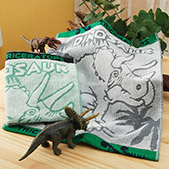 taoru侏羅紀公園三角龍毛巾