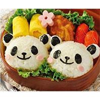 可愛熊貓寶寶飯糰壓模