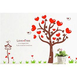 愛心樹創意壁貼
