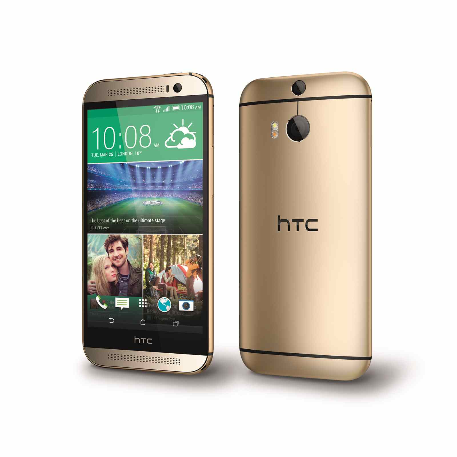 ... : HTC One (M8) 16GB Sim Free Unlocked Mobile Phone (Amber Gold