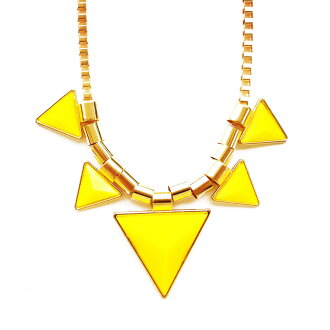 Triangle necklace (Yellow)